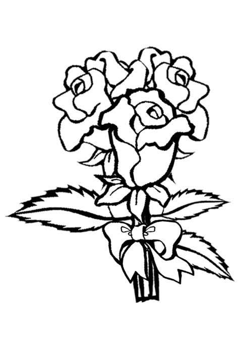 coloring pages  kids rose coloring pages