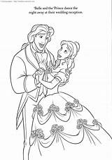 Coloring Disney Pages Beast Beauty Princess Printable Cake Sheets Precious Moments sketch template