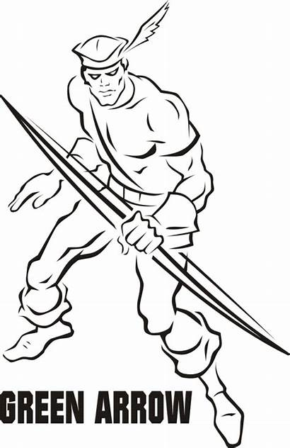 Arrow Coloring Pages Dc Heroes Superhero Colouring