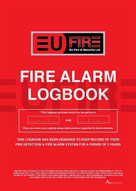 fire alarm log book product eu fire  security