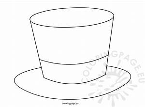 Top hat magician template | Coloring Page