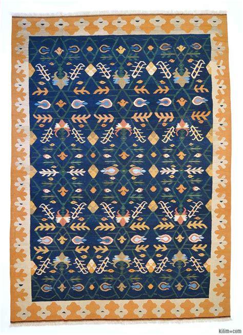 blue kilim rug k0004671 blue new turkish kilim area rug