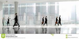 Group Of People In The Lobby Business Center Stock Photo ...