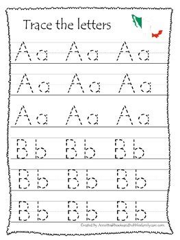 mexico themed a z tracing preschool educational worksheets daycare alphabet
