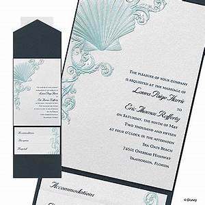 beneath the waves wedding invitation ariel bemyguest With disney wedding invitations clintons