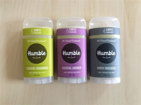 Review Humble All Natural Deodorant  Sweet Violet Beauty