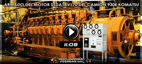 video de ensamblaje del motor ssdav del camion minero