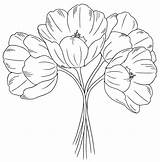 Flower Flowers Drawing Embroidery Pages Patterns Stamps Coloring Outline Bunch Tulips Digi Drawings Floral Digital Colouring Machine Tulip Clipart Template sketch template
