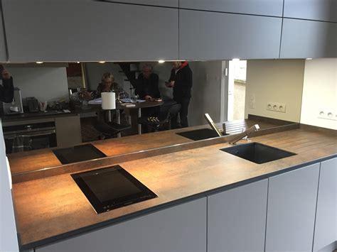 cuisine miroir crdence miroir pour cuisine beautiful miroir inox sur