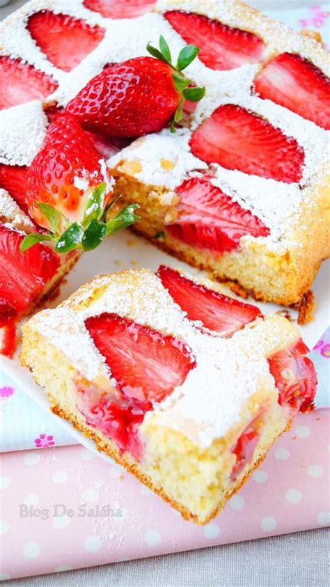 g 226 teau moelleux aux fraises paperblog