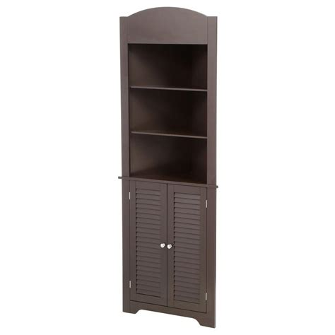 tall corner bathroom cabinet riverridge home ellsworth 23 1 4 in w x 68 3 10 in h x