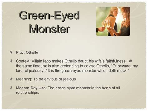 jealousy quotes othello green eyed monster image quotes