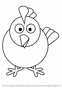 Learn How To Draw Hen For Kids Animals For Kids Step By