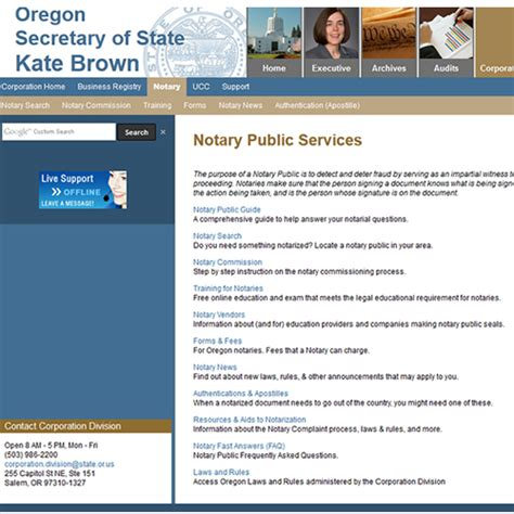notary oregon become state