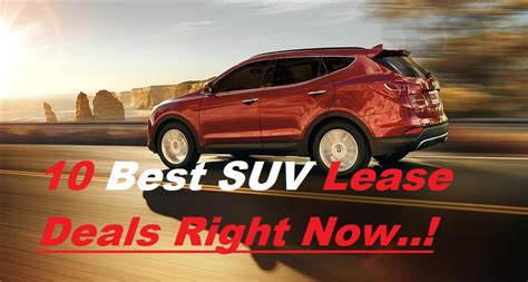 Crossover Suv Lease Deals by Top 10 Car Lease Deals Best Cars Modified Dur A Flex