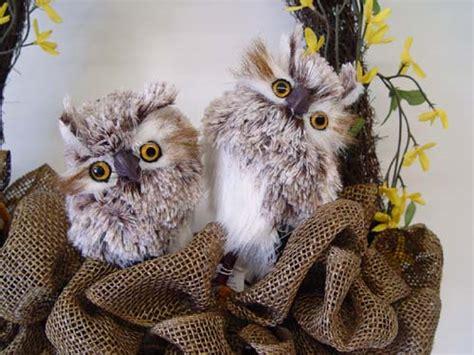 feathered owls  raz trendy tree blog holiday