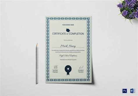 school certificate templates  ai indesign