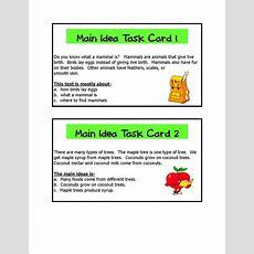 Literacy & Math Ideas Main Idea Learning Centers
