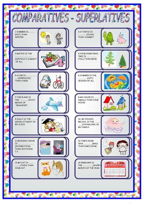 Comparative And Superlative Worksheet  Free Esl Printable Worksheets Made By Teachers