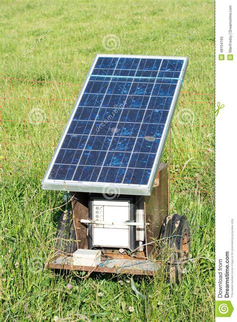 barri 232 re 233 lectrique avec le panneau solaire