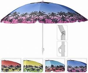 Sonnenschirm Halbrund Knickbar : meinposten sonnenschirm 160 cm uv schutz knickbar schirm mit palmen urlaub strandschirm ~ Watch28wear.com Haus und Dekorationen