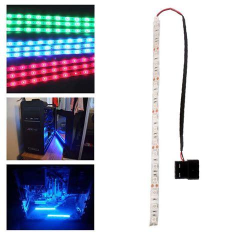 computer led light strips red blue green 60cm 5050smd led pc computer case strip