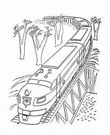Coloring Train Pages Polar Express Bridge Sheets Print Trains Diesel Printable Tram Engine Colouring Lego Railroad Clipart Rice History Activity sketch template