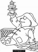 Paddington Coloring Picnic Bear Sheets Malvorlagen Template Coloriage Ausmalen Cartoni Trickfilmfiguren Comic Disegno Ours Dibujos Colorier Teddybaeren Kinderfarben Erwachsene Picknicks sketch template