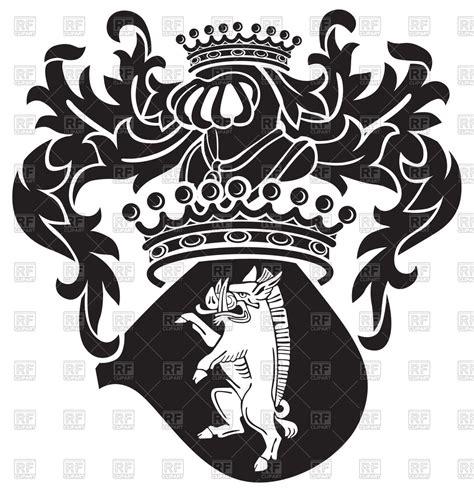 heraldic boar  medieval royal coat  arms vector image