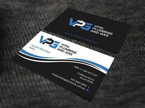 151 Modern Professional Plumbing Business Card Designs For