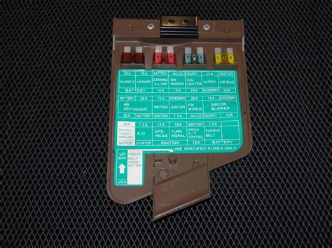 Nissan Fuse Box Cover by 90 96 Nissan 300zx Oem Brown Interior Fuse Box Cover