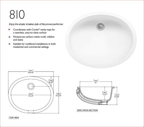 Corian Bowl by Integral Corian 810 Bowl Glacier White Depicted