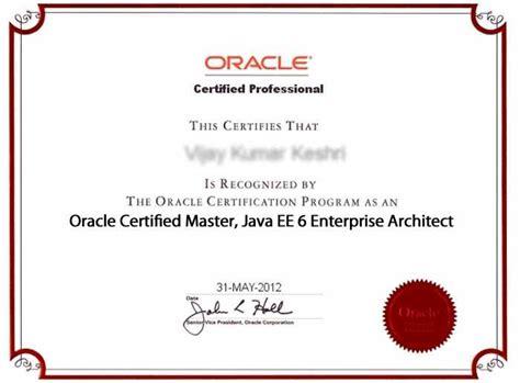 Oracle/sun Certified Enterprise