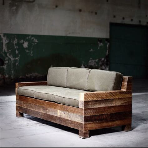 beam couch reclaimed wood pinterest awesome