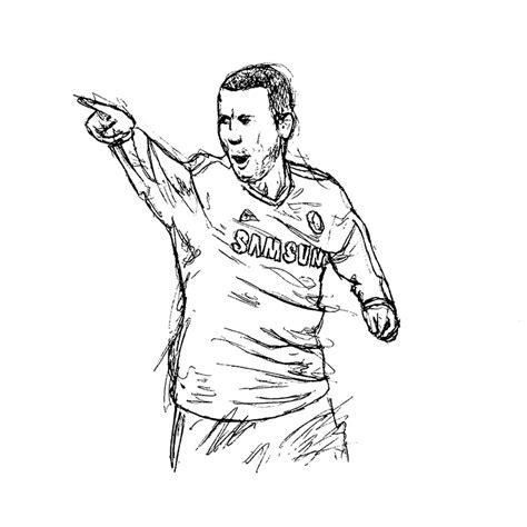 Kleurplaat Aubameyang by Chelsea Player Sketches Jeff Matthews