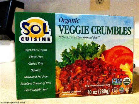 sol cuisine product review sol cuisine veggie crumbles fresh