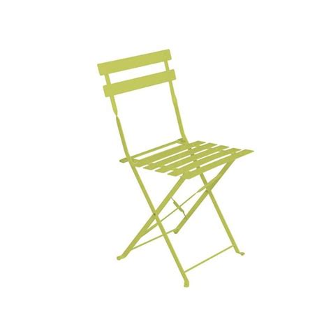 chaise pliante métal lot de 2 contemporain chaise de chaise de jardin métal pliante camargue verte achat