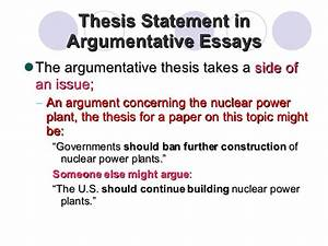 Essay For High School Application Examples Examples Of Argumentative Thesis Statements For Essays Essay Of Newspaper also Thesis Statement Persuasive Essay Examples Of Argumentative Thesis Statements For Essays Resume  Global Warming Essay In English