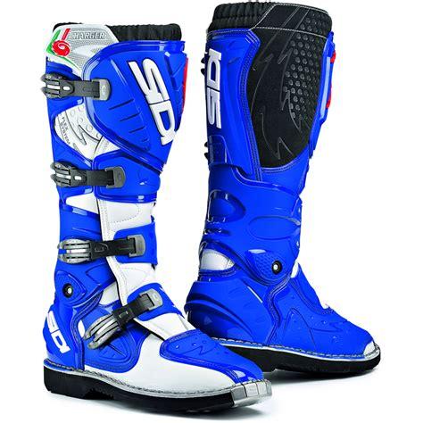 blue dirt bike boots sidi charger mx enduro motocross boots blue 8 42 ebay
