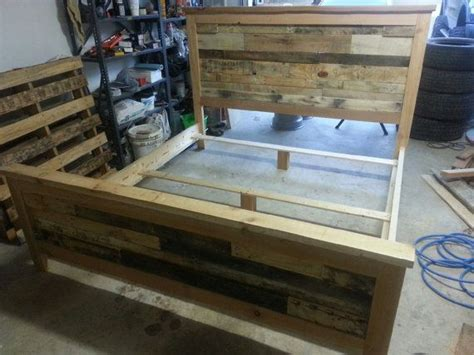 complete king size recycled pallet bed for tammy beds