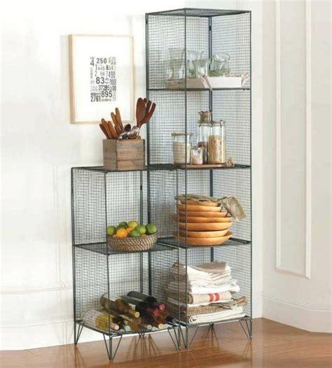 simple wire mesh shelves  piece