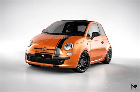 Fiat 500 Orange by Orange Stefan Edition Fiat 500 With Enkei Rs50rr Wheels
