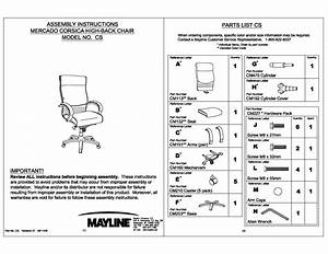 Corsica U00ae Chair Assembly Instructions