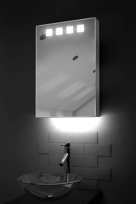 Bathroom Mirror Cabinets With Led Lights by Led Bathroom Cabinet With Ambient Lighting H