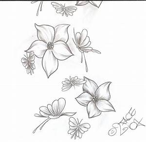The gallery for --> Flower And Butterfly Tattoo Sketches