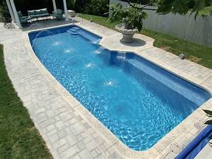Fiberglass inground swimming pools prices with fountain for Swimming pool designs and prices