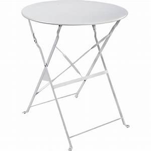 Table De Jardin 4 Personnes : table de jardin naterial flore ronde blanc 4 personnes leroy merlin ~ Teatrodelosmanantiales.com Idées de Décoration