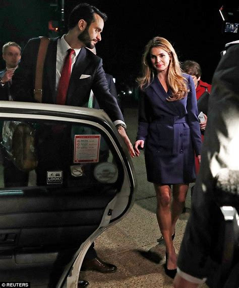 Hope Hicks shows off her legs in a yellow skirt | Daily ...