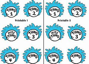 4 best images of thing 1 printable template thing 1 and With thing 1 and thing 2 printable template