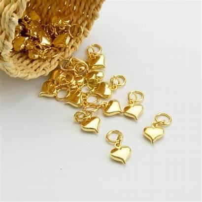 Hartje Accessoire Gouden Goud Hartjes Hanger Metalen